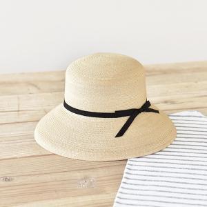 石田製帽 マニラ麻555 カサブランカ(B02-001 DAY STROWS レディース uv 折りたたみ つば広 帽子 カサブランカ 深め リボン 麦わら帽子 2015SS)|santelabo