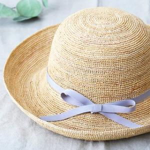 石田製帽 キャプリス(BC-004 石田製帽 DAY STROWS レディース uv つば広 帽子 ラフィア 麦わら帽子)|santelabo|04