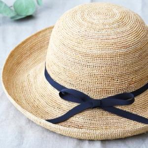 石田製帽 キャプリス(BC-004 石田製帽 DAY STROWS レディース uv つば広 帽子 ラフィア 麦わら帽子)|santelabo|05