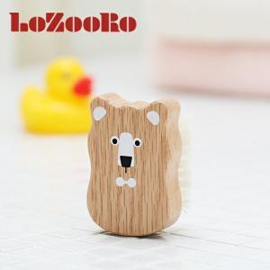 ロゾロ(LoZooRo)ベビー用ヘアブラシ / ベビー 赤ちゃん 新生児 乳児 アウトバス ヘアブラ...