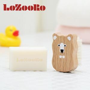 ロゾロ(LoZooRo)ベビー用ヘアブラシ&ベビーソープセット / ベビー 赤ちゃん 新生児 乳児 ...