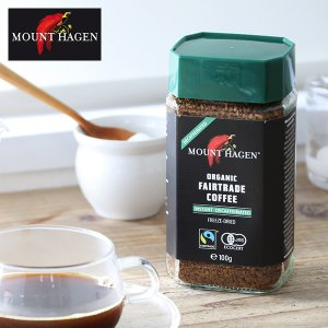マウントハーゲン オーガニック カフェインレス インスタントコーヒー (デカフェ ディカフェ MOUNT HAGEN 有機栽培 オーガニック コーヒー)|santelabo