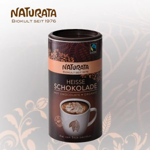 ナチュラータ オーガニック ホットチョコレート ドリンク (NATURATA 有機ココアパウダー チョコレートドリンク スイーツ フェアトレード バレンタイン ドイツ)|santelabo