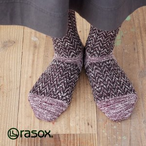 ラソックス へリンボーンウール・クルー rasox (ラソックス レディース クルー rasox ソックス 靴下 L字 2015AW CA142CR01)|santelabo