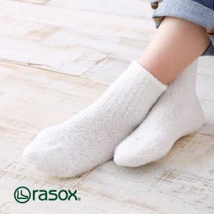 ラソックス カルモア・リブ rasox (ラソックス レディース クルー rasox ソックス 靴下 L字 2015AW CA152LC10)|santelabo