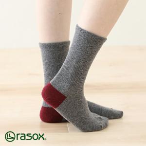 ラソックス ベーシックウール rasox (ラソックス レディース rasox ウール ソックス 靴下 L字 2015AW BA132CR01)|santelabo