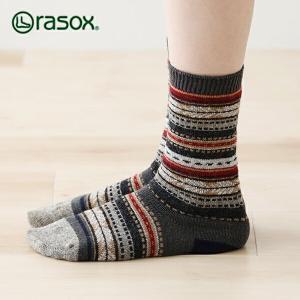 ラソックス ジャガードウール・クルー rasox (ラソックス レディース クルー rasox ソックス 靴下 L字 CA132CR04)|santelabo