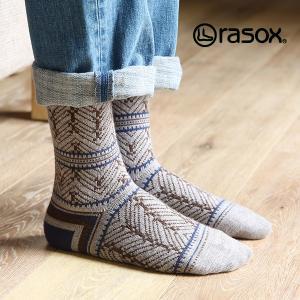 ラソックス ポインテッドツイード rasox (ラソックス レディース クルー rasox ソックス 靴下 L字 秋 冬 厚め CA162CR01)|santelabo