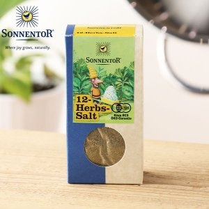 ゾネントア ブレンドスパイス 12種のハーブソルト 120g (sonnentor スパイス 有機栽培 オーガニック ハーブ オーガニック食品)|santelabo