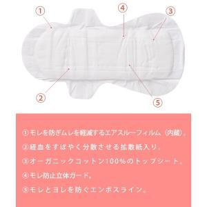 シシフィーユ SANITARY PAD 生理用ナプキン  23.5cm(多い日用)3パック (オーガニックコットン コットン ナチュラル 天然素材 やわらか 羽つき お試し)|santelabo|02