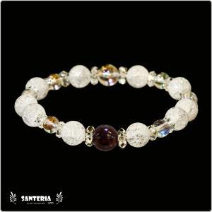 誕生石 1月生まれ  ガーネット アクアオーラクリスタル  水晶AAA ペア オススメ 天然石パワーストーン ブレスレット|santeria