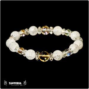 誕生石 11月生まれ  シトリン アクアオーラクリスタル  水晶AAA ペア オススメ 天然石パワーストーン ブレスレット|santeria
