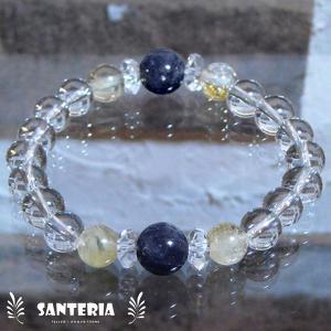 アイオライト シトリン クリスタルクォーツ 水晶 AAA 女性用 お奨めプレゼント オススメ 天然石 パワーストーン ブレスレット  送料無料|santeria