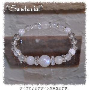 ブルームーンストーンAAA 水晶  ブレスレット silver925 ピアス セット|santeria