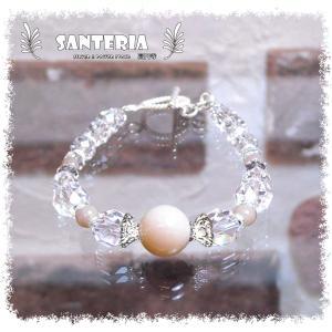 誕生石 10月生まれ  ピンクオパール クリスタルクォーツ水晶AAA silver925 女性用 天然石パワーストーンブレスレット|santeria