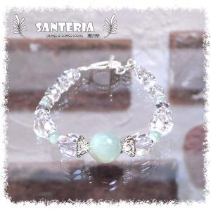 誕生石 6月生まれ  ブルームーンストーン クリスタルクォーツ水晶AAA silver925 女性用 天然石パワーストーンブレスレット|santeria