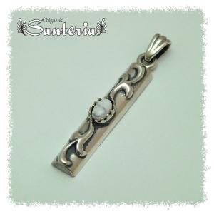 unisexギフトおすすめペンダント シルバーアクセサリー silver925ペンダントトップ・ハウライト silver925|santeria