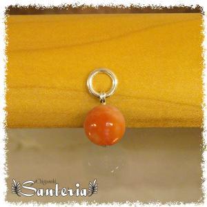 カルサイト(オレンジ)10mm天然石トップ silver925 男女兼用贈物お奨めペンダントトップ シルバーアクセサリー|santeria
