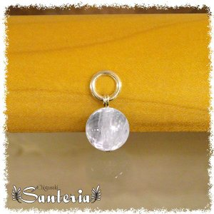 クンツァイト10mm天然石トップ silver925 おすすめおくりものunisexペンダントトップ シルバーアクセサリー|santeria