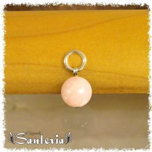 オパール(ピンク)10mm天然石トップ silver925 ユニセックス贈物お勧めペンダントトップ シルバーアクセサリー|santeria