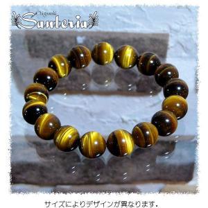 タイガーアイブレス 天然石パワーストーンブレスレット タイガーアイAAA 12mm.オリジナル|santeria