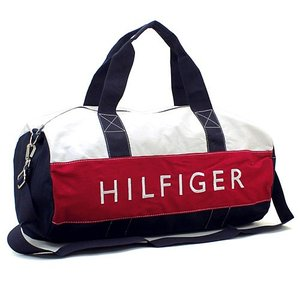 トミーヒルフィガー TOMMY HILFIGER ボストンバッグ(ショルダー付) 6928342:ネイビー×ホワイト×レッド 当日発送対象外 santnore