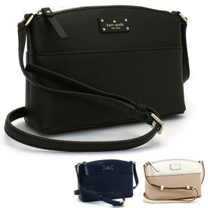 シンプルデザインが上品さを演出する、ケイトスペードのショルダーバッグ。開口部はファスナー式で、お財布...