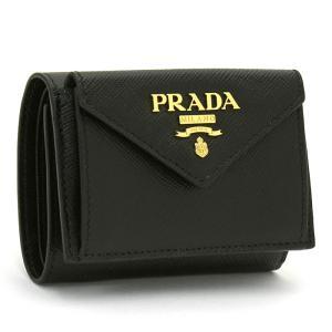 プラダ PRADA 三つ折り財布ダブルホック 1MH021 SAFFIANO METAL ORO|santnore