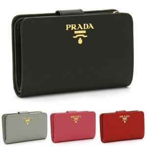 プラダ PRADA 二つ折り財布L字ファスナー 1ML225 SAFFIANO METAL ORO|santnore