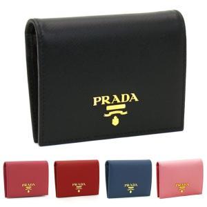 プラダ PRADA 二つ折り財布 1MV204 SAFFIANO METAL ORO|santnore