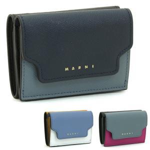 マルニ MARNI 三つ折り財布ダブルホック PFMOW02U09 LV520|santnore