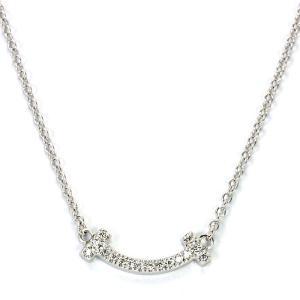 ティファニー TIFFANY ティファニーT スマイルペンダント ネックレス 62617802 K18ホワイトゴールド マイクロダイヤモンド|santnore