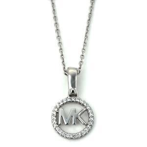 マイケルコース MICHAEL KORS ロゴチャームネック LOGO CHARM NECK ネックレス MKC1108AN040 シルバーカラー|santnore