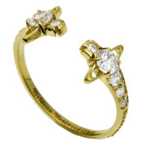 ヴィヴィアンウエストウッド Vivienne Westwood レイナ REINA リング 指輪 SR569 10 イエローゴールドカラー|santnore