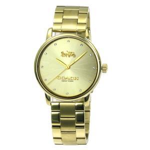コーチ COACH グランド GRAND スワロフスキークリスタル12P レディース 時計 ウォッチ 14502927 ゴールド文字盤|santnore