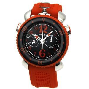ガガミラノ GaGa MILANO クロノスポーツ45mm CHRONO SPORTS 45mm メンズ 時計 ウォッチ 7010 05 ブラック レッド文字盤|santnore