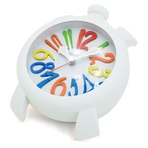 ガガミラノ GaGa MILANO テーブルアラーム TABLE ALARM 置時計 9080 1 ホワイト文字盤|santnore