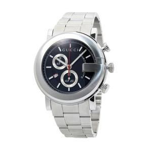 INT-535 グッチ  YA101309 クロノ メンズ  ブラック   時計/ウォッチ|santnore