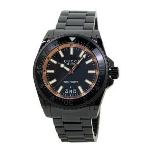 INT-771GUCCI/グッチ YA136213 DIVE/ダイブ XL メンズ オールブラック  時計/ウォッチ|santnore