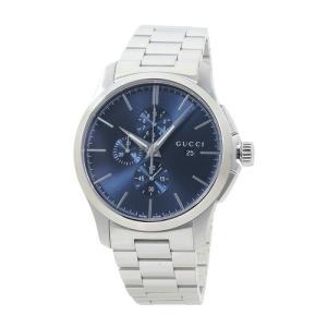 INT-774 GUCCI/グッチ YA126273 G-タイムレス クロノ XL メンズ ブルー  時計/ウォッチ|santnore