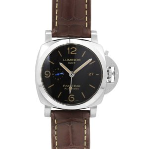 パネライ PANERAI ルミノール1950 GMT 44MM PAM01320 ブラック ブラウンベルト メンズ 時計 ウォッチ 当日発送対象外 santnore