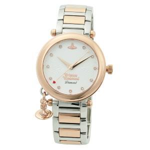 ヴィヴィアンウエストウッド Vivienne Westwood ダイヤ11P レディース 時計 ウォッチ VV006SLRS ホワイト文字盤|santnore