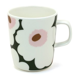 マリメッコ marimekko ウニッコ UNIKKO マグカップ 063431 ホワイト グリーン ピンク|santnore