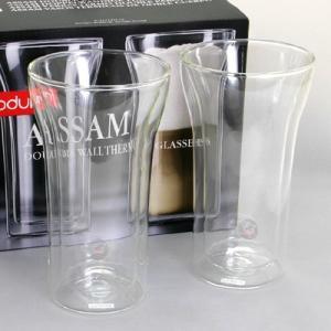 期間限定セール ボダム bodum  ASSAM DWG 4547-10  ダブルウォールグラス 400ml  ペアセット|santnore