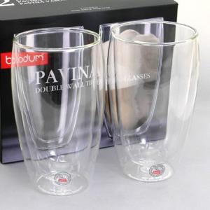 ボダム bodum  PAVINA 4560-10US  ダブルウォールグラス 450ml  ペアセット