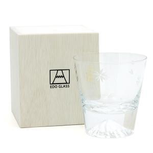 EDO GLASS 富士山ロックグラス 桜|santnore