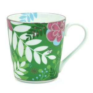 ナルミ NARUMI フローラルパラダイス Floral Paradise マグカップ 51071 2773 グリーン|santnore