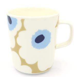 マリメッコ marimekko  ウニッコ UNIKKO マグカップ 063431 815 ベージュ オフホワイト ブルー|santnore