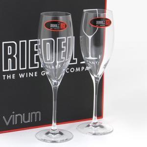 クーポン使えます 期間限定セール リーデル RIEDEL ワイングラス ペア  ヴィノム 6416/48 キュヴェ・プレスティージュ・シャンパン|santnore