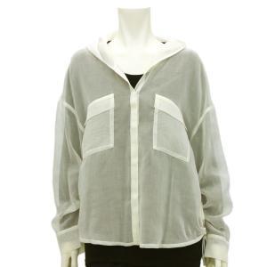 ラリアムー Lallia Mu フード付きシアーシャツ 2012593 レディース|santnore